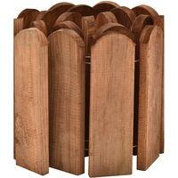 Rouleau de bordure Marron 120 cm Bois de pin imprégné