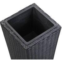 Lit surélevé de jardin 30x30x80 cm Résine Tressée Noir