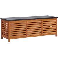 Boîte de rangement de jardin 150x50x55 cm Eucalyptus solide
