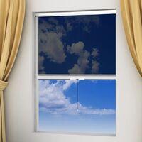Moustiquaire enroulable blanche pour fenêtre 60 x 150 cm