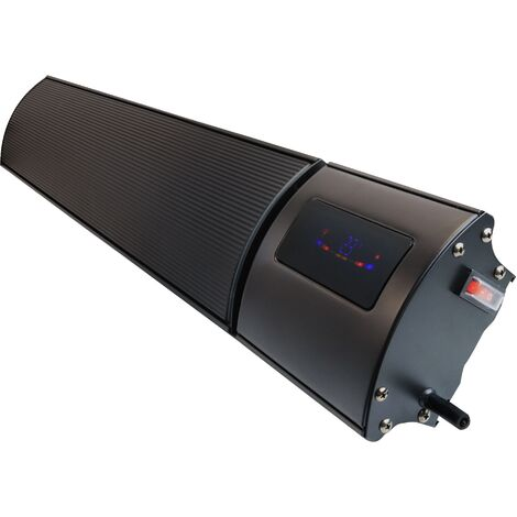 1200w Helios Wi-Fi Remote Controllable Infrared Bar Heater Black