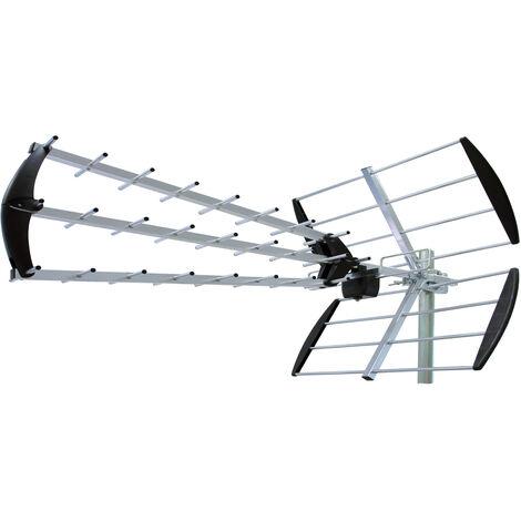 Antenne TV extérieure TNT HD Trinappe ST45 17,5 dB - SEDEA - 018945