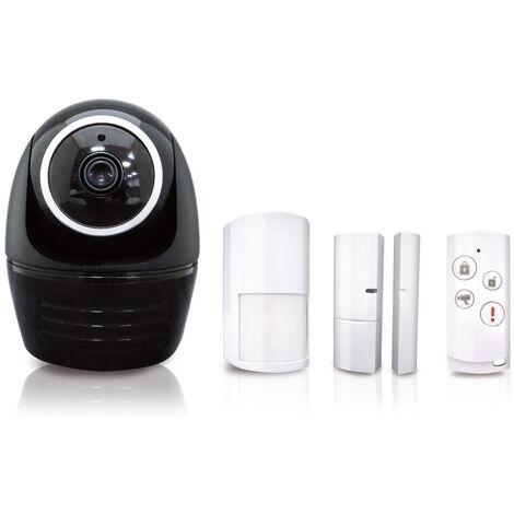 Pack Alarme maison connectée sans fil + caméra intégrée – Solution de surveillance à distance avec détecteur de mouvement, contact magnétique et télécommande – HOS-1800 - BLAUPUNKT - 573800