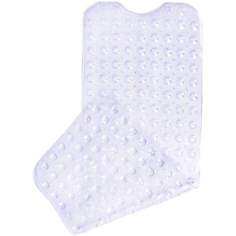 LITZEE Tapis de bain antidérapant avec 200 ventouses 100 x 40 cm - Transparent