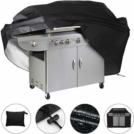 LITZEE Bâche de protection étanche pour barbecue 145 x 61 x 117cm (Noir)