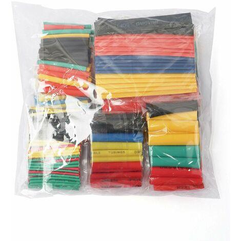 LITZEE Kit de 164 gaines thermorétractables 2:1 pour isolation électrique 5 couleurs en 8 tailles
