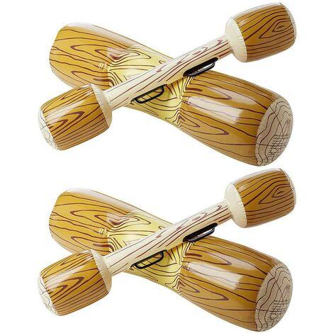 LITZEE Flotteur Gonflable de la Piscine avec Pagaies, (Lot de 2) Flotteur Géant en Canoë sur Le Radeau Flottant, Siège Flottant, Siège, Bateau, Jouets Flottants pour Enfants et Adultes