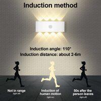 8W Applique avec Détecteur de Mouvement,Allumage et Extinction Automatiques Applique Blanc Chaud 3000K,Lampe Mural Capteur d'éclairage pour Extérieur/Intérieur IP65