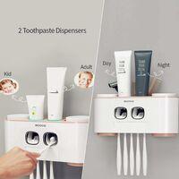 LITZEE Support de Brosse à Dents électrique pour Enfants et Adultes - Rose