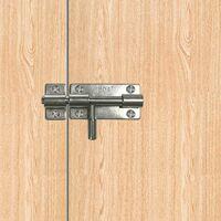 LITZEE Générique Verrou de box ou targette porte-cadenas 304 Acier Inoxydable-Cadenas à Verrou Loquet Targette de portail coulissant Verrou de toilettes
