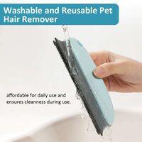 LITZEE Brosse pour épiler les poils pour animaux domestiques ; Épilateur de poils de chat ; Épilateur professionnel pour canapé, meubles, moquette, vêtements, couvertures, voiture, lit (Bleu cycle)