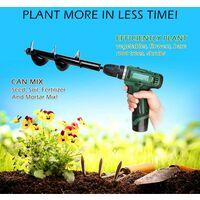 LITZEE Mèche Jardin tarière Ø 80 mm, Outil de Plantation Pratique, Foret Professionnel Planteuse de perçage à Arbre Hex bulbe à Fleurs (80 x 300mm)