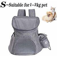 LITZEE Sac à Dos de Transport pour Chien et Chat pour Animal de Compagnie Pet Carrier pour Petit Pet en Plein Air Randonnée Camping -33x30x24cm