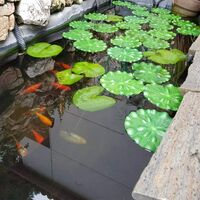 LITZEE 10 Pcs Floating Lotus FeuillesDécoration Aquarium étang Lotus Décoration(18 cm)
