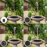 LITZEE Fontaine Solaire Extérieur 1,4W, Fontaine à Eau Solaire pour Bain d'oiseau avec 4 Styles d'eau par 4 Buses, Flottante Autoportante pour Bain d'oiseau, Jardin, patio, étang, Piscine, extérieur