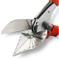 LITZEE Cisaille à joint d'étanchéité, coupe d'angle multi-/réglable, coupe de plastique, PVC, PPR PE, branche, fil