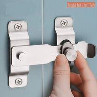 LITZEE Plus épais Verrou de porte Slide Serrure de Porte à loquet à Bascule en Acier Inoxydable robuste,Verrou pour Porte ou Fenêtre(1pcs)