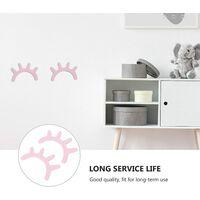 LITZEE Sticker mural 3D en bois pour chambre de bébé, décoration murale, rose