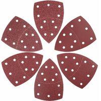 Jeu de feuilles abrasives 180 pièces triangles abrasifs, 105 x 152 mm│11 trous│ chacun 30 x 40/60/80/120/180/240 grains pour ponceuse multiple