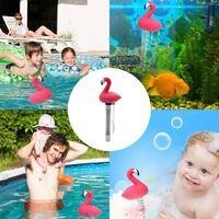 LITZEE Thermomètre de Piscine, Bassin d'eau Thermomètre Piscine Thermomètre pour pood Indoor & Outdoor Spas Hot Tubs (Flamingo)