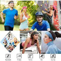 LITZEE 3 PCS Bandeau Sport, Bandeau Sport Femme, Bandeau Cheveux Homme, Respirant Sueur Sucer Antidérapant Cheveux Bande pour Yoga, Basket-Ball, Running, Cyclisme Femmes et Homme Bandeaux