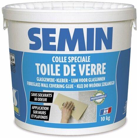 Colle en pâte pour toiles de verre Semin - prête à l'emploi - seau de 10 kg