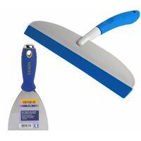 Couteau US à enduire Semin - 10 cm et une raclette à lisser Semin - 30 cm