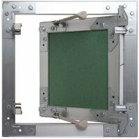 Trappe de visite alu hydro Semin - 200 mm x 200 mm x 12.5 mm - ouverture poussez/lâchez - pièces humides - accès aux gaines techniques et conduites - murs et plafonds