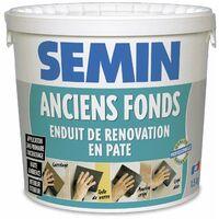 Lot de 2 enduits de rénovation pour les supports irréguliers Anciens Fonds Semin - intérieur/extérieur - seau de 1,5 kg, un couteau à enduire - 15 cm et une lame CE 78 pour enduire et lisser - 15 cm