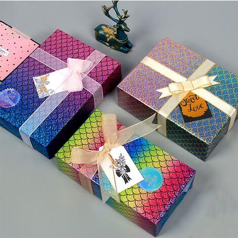 Emballage cadeau, papier d'emballage cadeau de Noël, 12 pièces de 50 * 70 cm (A * 4 + B * 4 + C * 4)