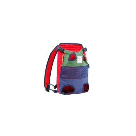 Sac à dos pour chien - un sac à dos pour animaux de compagnie avec les jambes tournées vers l'avant, adapté aux petits et moyens chiens de grande taille, sac de voyage pour chat mains libres approuvé par les compagnies aériennes, vélos et motos pouvant êt
