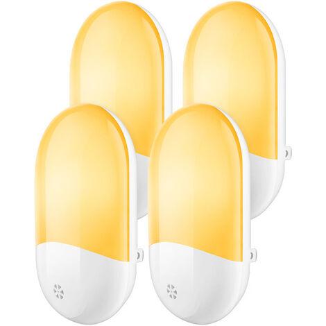 Betterlife Petite veilleuse 4 pièces ensemble couloir de chambre à coucher veilleuse intelligente de contrôle de la lumière enfichable==