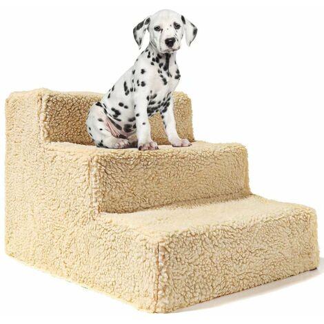 Betterlife Chats et chiens Échelle d'escalade Escaliers Plateformes de saut pour animaux de compagnie Escaliers pour animaux de compagnie Chiens Marches de rampe Produits pour animaux de compagnie, jaune