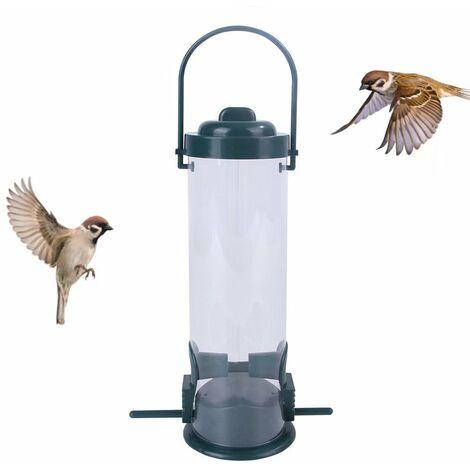 Mangeoire Oiseau Distributeur De Nourriture pour Oiseaux, Distributeur De Nourriture pour Oiseaux, Mangeoire Écologique pour Oiseaux Sauvages en PVC