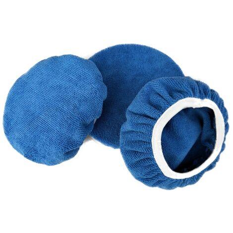 3 pièces(5-6pouces) Bonnets de Polissage en Microfibre,Car Polisseuse Pad Bonnet Buffing Pad de Bonnets de Polissage Polissage polir Bonnets électrique pour Polisseuse-lustreuse Orbitale