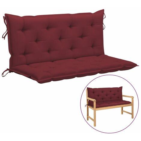 Betterlife Coussin de balancelle Rouge bordeaux 120 cm Tissu