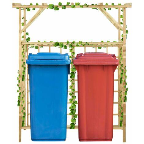 Pergola de jardin pour poubelles doubles Bois de pin imprégné7452-A