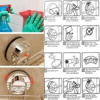 Panier porte-savon mural, acier inoxydable, douche en acier inoxydable, ventouse, porte-savon, panier profond, séchage rapide, pas de perçage dans la salle de bain et la cuisine