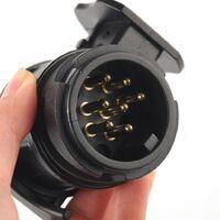 Connecteur de remorque étanche 13 broches à 7 broches Adaptateur de prise de crochet de remorque 13 broches à 7 broches (1 * PCS noir