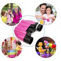 Betterlife Jumelles Télescope pour enfants Télescope d'aventure en plein air pour enfants, 8X22 Violet