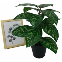 Betterlife Plante artificielle simulation de fleur faux en pot grand paon tournesol plante verte en pot simulation plante fleur