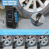 Compresseur d'Air Portatif , Compresseur Voiture d'air Digital Portable Auto Gonfleur Pneus, Electrique Compresseur Air Numérique avec Lampe LED, 3M Câble pour Voiture Vélo