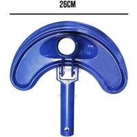 Tête de balai aspirant demi-lune bleu pour manche standard ou télescopique - Norme CE
