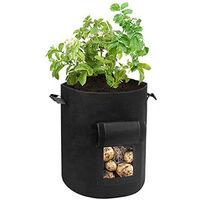 Sac à Plantes, Sacs de Plantation de Jardin, 7 Gallons Sac de Legumes, Tissu Non-tissé Sac de Plantation de Pommes de Terre à Fenêtre, Avec poignées,Réutilisables (1 PACK)