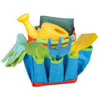 Outils de Jardinage pour Enfants, Jouet de Jardin Enfant avec Arrosoir,Gants,Râteau,Pelle, Outils de Jardin Kit pour Enfant Cadeau pour Bébé Préscolaire