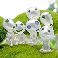 Lot de 6 figurines de princesse Mononoke lumineuses en forme d'elfes d'arbre - Accessoires pour jardinage en plein air