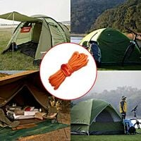 Guy Cordes, 4 pack Tente 4mm Guy Guy Line 13 pieds Cordon de réflexion Guy Guide Tente Guide de la corde pour auvent Camping Orange