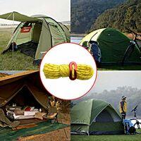 Guy Cordes, 4 pack 4mm Tent Guy Line 13 pieds Cordon de réflexion Guy Guy Guide Tente Guide corde pour auvent Camping Yellow