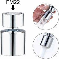 Mousseur Robinet 22mm de Cuisine Économiseur d'eau Double Fonction Rotation à 360 Degrés