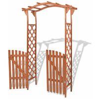 Arche pour jardin avec portique Bois massif 120 x 60 x 205 cm8737-A